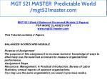 mgt 521 master predictable world mgt521master com 51