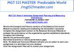 mgt 521 master predictable world mgt521master com 52