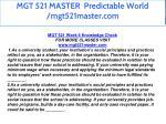 mgt 521 master predictable world mgt521master com 54