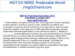 mgt 521 nerd predictable world mgt521nerd com 3