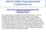 mgt 521 nerd predictable world mgt521nerd com 31