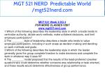 mgt 521 nerd predictable world mgt521nerd com 36