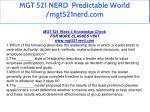 mgt 521 nerd predictable world mgt521nerd com 37