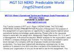 mgt 521 nerd predictable world mgt521nerd com 38