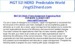 mgt 521 nerd predictable world mgt521nerd com 39