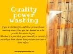 quality power washing