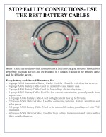 stop faulty connections use the best battery