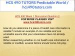 hcs 490 tutors predictable world hcs490tutors com 3