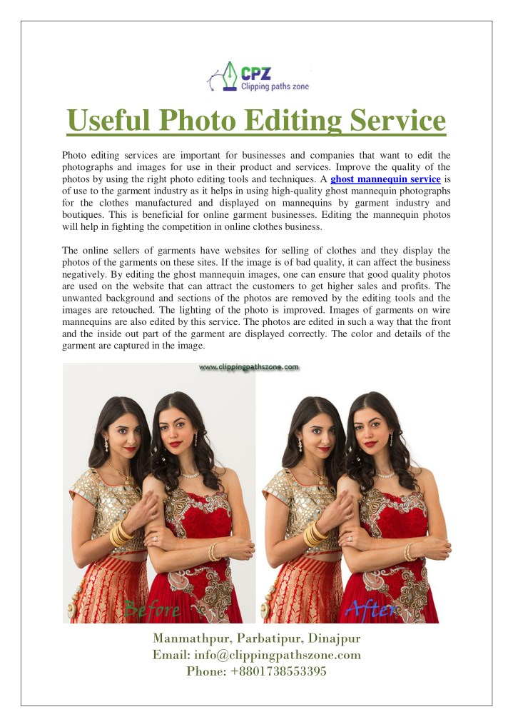 useful photo editing service n.