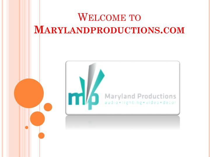 welcome to marylandproductions com n.