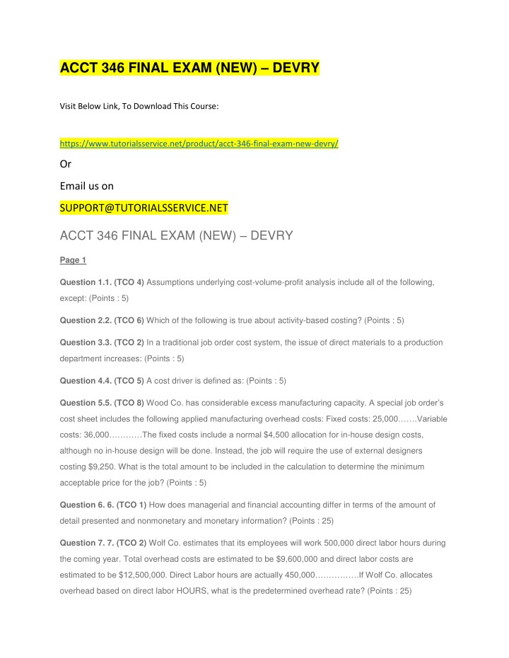 acct 346 final exam new devry n.
