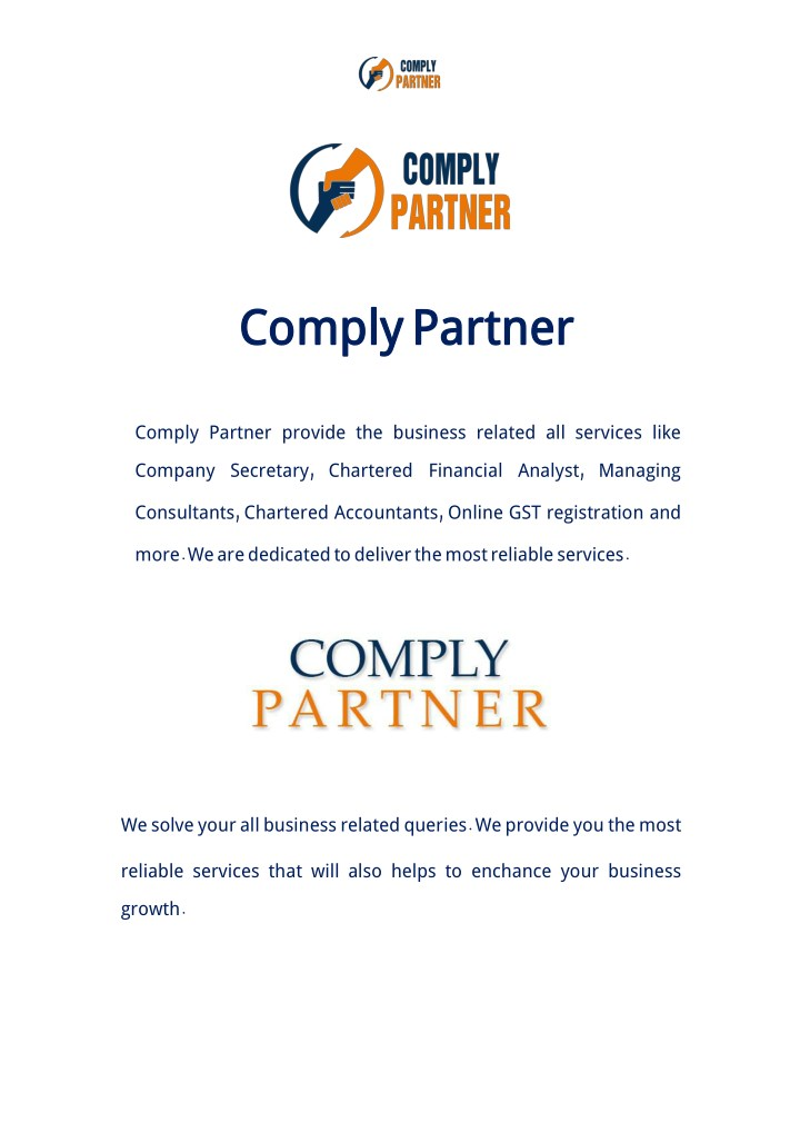 comply complypartner n.