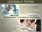 legionella testing
