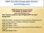 hrm 324 edu predictable world hrm324edu com 1