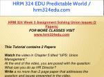 hrm 324 edu predictable world hrm324edu com 10