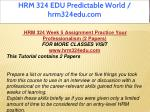hrm 324 edu predictable world hrm324edu com 18
