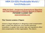 hrm 324 edu predictable world hrm324edu com 2