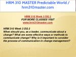 hrm 310 master predictable world hrm310master com 15