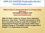 hrm 310 master predictable world hrm310master com 17