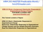 hrm 310 master predictable world hrm310master com 18