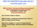 hrm 310 master predictable world hrm310master com 2