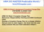hrm 310 master predictable world hrm310master com 22