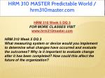 hrm 310 master predictable world hrm310master com 26
