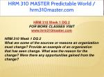 hrm 310 master predictable world hrm310master com 3