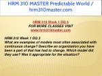 hrm 310 master predictable world hrm310master com 5