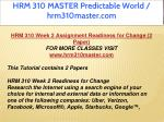 hrm 310 master predictable world hrm310master com 7