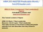 hrm 310 master predictable world hrm310master com 8