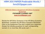 hrm 300 paper predictable world hrm300paper com 19