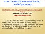 hrm 300 paper predictable world hrm300paper com 27