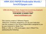 hrm 300 paper predictable world hrm300paper com 28