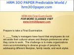 hrm 300 paper predictable world hrm300paper com 6