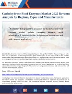 carbohydrase food enzymes market 2022 revenue