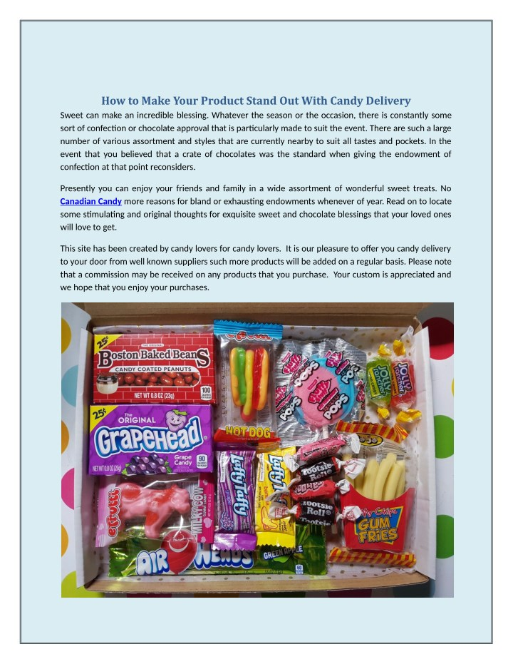 how to make your product stand out with candy n.