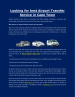looking for best airport transfer service in cape