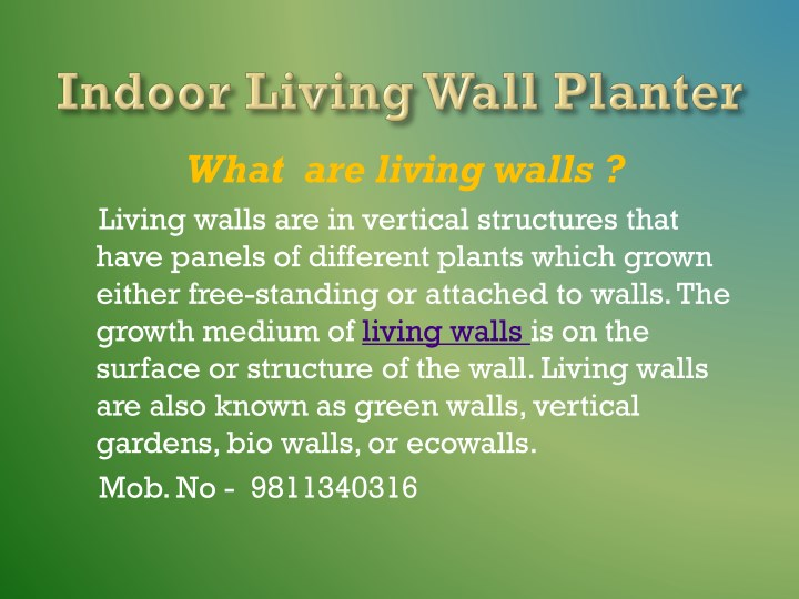 what are living walls living walls n.