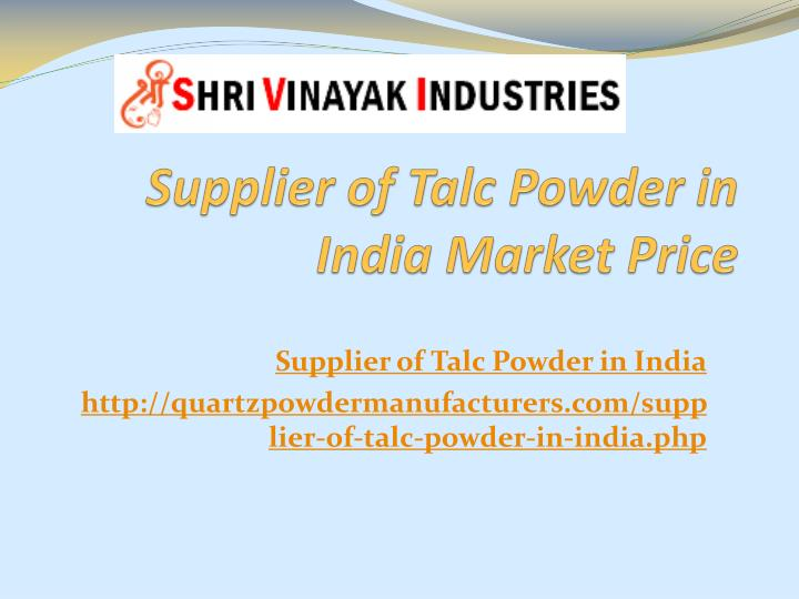 supplier of talc powder in india market price n.