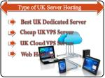 type of uk server hosting