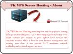 uk vps server hosting about