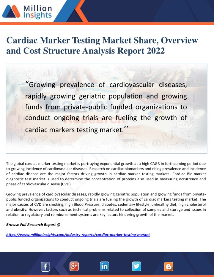cardiac marker testing market share overview n.