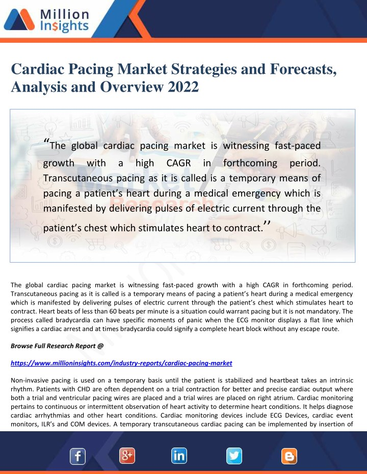 cardiac pacing market strategies and forecasts n.