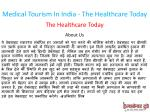 medical tourism in india the healthcare today 1