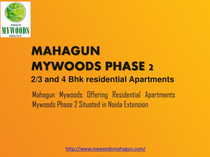 mahagun mywoods phase 2 2 3 and 4 bhk residential apartments n.