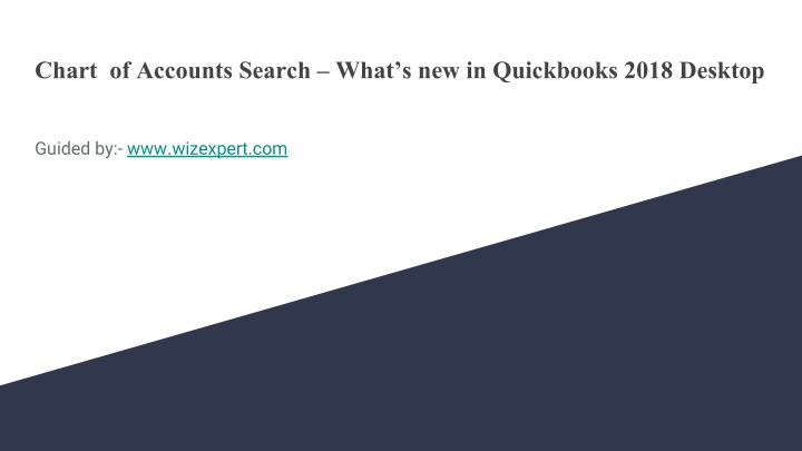 chart of accounts search what s new in quickbooks n.