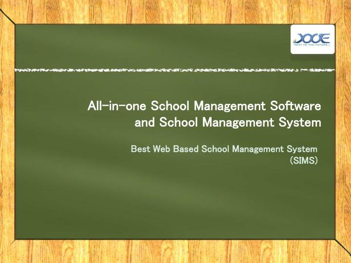 all in one school management software and school management system n.