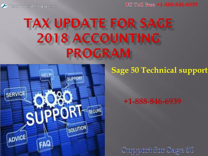 tax update for sage 2018 accounting program n.
