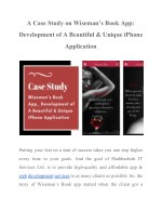 a case study on wiseman s book app